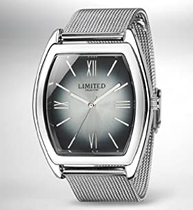 Limited Collection Rectangular Face Mesh Strap Analogue Watch