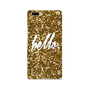 Ebby Golden Hello Premium Printed Case For Huawei Honor 6 Plus
