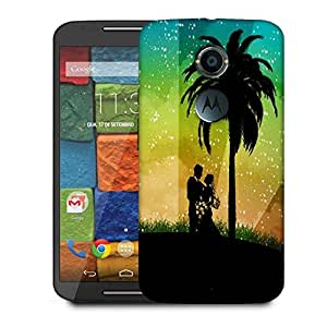 Snoogg Couple Designer Protective Phone Back Case Cover For Moto X 2nd Generation