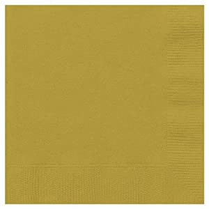 20 Count Cocktail Napkins, Gold
