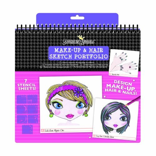 This Sketch Pad Lets You Draw Make-Up Looks, Hairstyles And Nail Designs On The Fashion Angels Models - Make-Up Portfolio