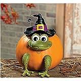 Halloween Frog Witch Pumpkin Poke In Head and Legs