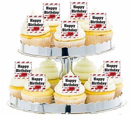 cakesupplyshop-item24277-24pk-fire-engine-happy-birthday-edible-cupcake-decoration-toppers-picks