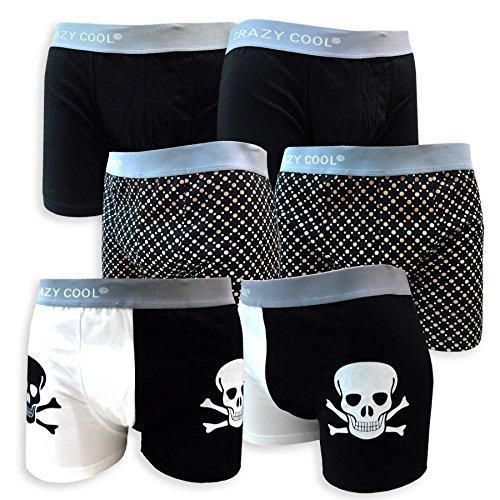 Crazy-Cool-Mens-Cotton-or-Nylon-Boxer-Briefs-Underwear-6-Pack