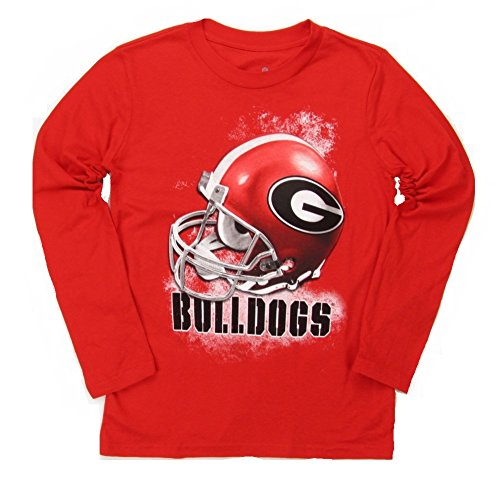 Georgia Bulldogs Youth Long Sleeve Smash Mouth Football T-Shirt - Red (Yth M) (Youth Georgia Bulldog Shirts compare prices)