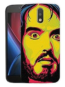 "Russel Brand ArtPrinted Designer Mobile Back Cover For ""Motorola Moto G4 PLUS"" (3D, Matte, Premium Quality Snap On Case)"