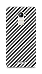 Amez designer printed 3d premium high quality back case cover for Coolpad Note 3 Lite (Black n White Pattern2)
