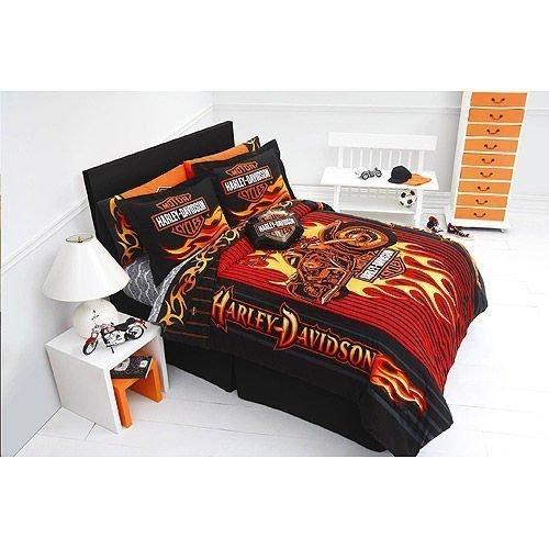 Harley Davidson Flame Rider Fireball Full/Queen Comforter