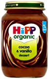 HiPP Organic Stage 2 From 7 Months Cocoa and Vanilla Dessert 6 x 190 g (Pack of 2, Total 12 Pots)