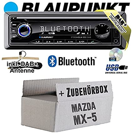 Mazda MX-5 MX5 - BLAUPUNKT Stockholm 230 DAB - DAB+/CD/MP3/USB Autoradio inkl. Bluetooth - Einbauset