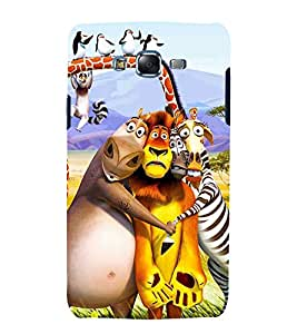 printtech Madagascar Cartoon Back Case Cover for Samsung Galaxy J7 (2016 ) /Versions: J710F, J710FN (EMEA); J710M (LATAM); J710H (South Africa, Pakistan, Vietnam) Also known as Samsung Galaxy J7 (2016) Duos with dual-SIM card slots Asia/China model with 1080p display and 3 GB RAM