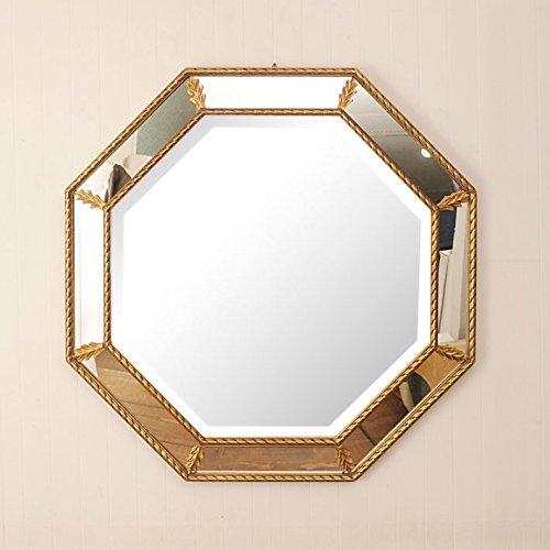 インテリア 鏡 フレーム部分にもミラーを使用 お洒落な ウォールミラー 8角形型