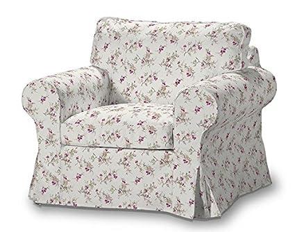 FRANC-TEXTIL 612-141-13 Ektorp sillón funda, funda sillón, sillón Ektorp, Mirella, gris/rosa