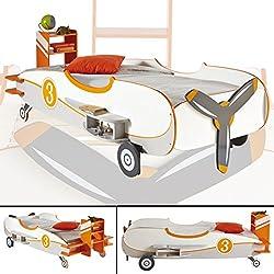 Demeyere 216713 Flugzeugbett, Looping, 230.5 x 78 x 123 cm, weiß / orange