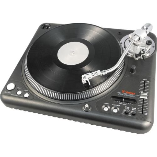Vestax PDX-3000mix Professional Direct Drive DJ Turntable with S Shaped Tone Arm (Black)
