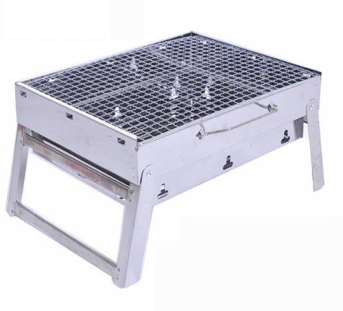 Outdoor Stainless Steel Hiking Camping Charcoal Grill Picnic Bbq Grill For Barbecue front-493687