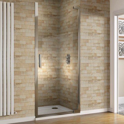 900mm Designer Hinge EasyClean Glass Shower Enclosure Cubicle Doors Set