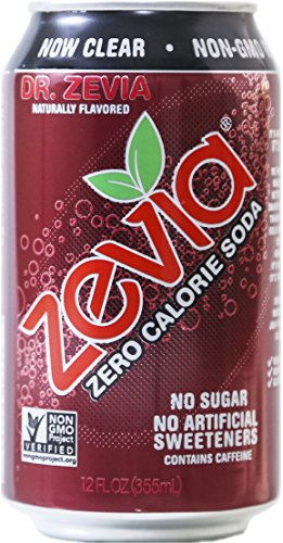 Zevia Zero Calorie Soda, Dr. Zevia, Naturally Sweetened, (Pack of 24)
