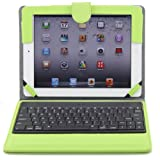 Ruban iPad Air Keyboard Case, Removable Wireless Bluetooth Keyboard Case Cover with Auto Wake Sleep, Tablet Stand for iPad Air 1,2 - Green