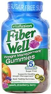 Vitafusion Fiber Gummies Weight Management, 90-Count Bottle