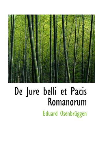 De Jure belli et Pacis Romanorum
