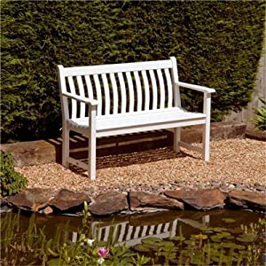 Alexander Rose White Painted Broadfield Wooden Garden