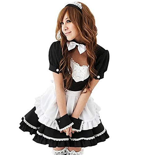 TAILUN Women's Anime Cosplay French Apron Maid Fancy Dress Costume