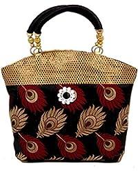 Kuber Industries Women's Handbag (Black) Set Of 2 Pcs