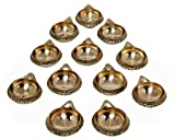 MA DESIGN HUT Diya Set Brass Kuber Deep Diwali Pooja Item - Deepawali Lighting Brass Oil Diya Diwali Decoration Pooja Item and Home Decor Item Festival Gift Item Set of 12