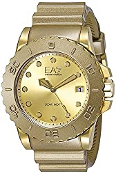 Emporio Armani Wave Analog Gold Dial Mens Watch - AR6084
