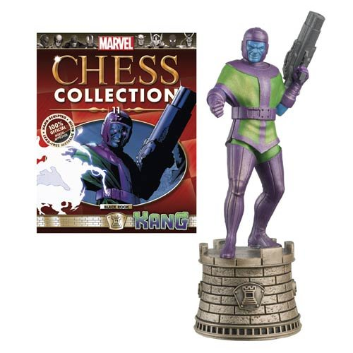 Marvel Comics Kang Black Rook Chess Piece with Magazine by Eaglemoss Publications - 1