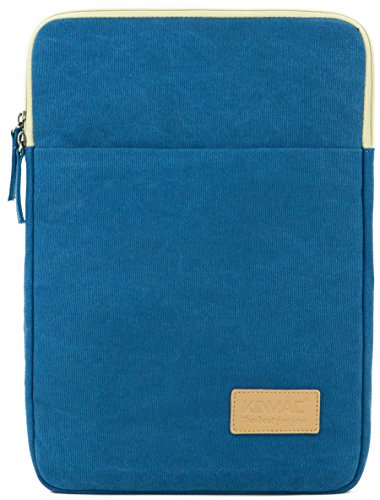 Kinmac Blue Color Canvas Vertical Style Laptop Sleeve with Pocket 13 Inch Macbook Air 13 Bag Macbook Pro 13 Case laptop Sleeve 13.3 inch (Macbook Pro 13 Sleeve Light Blue compare prices)