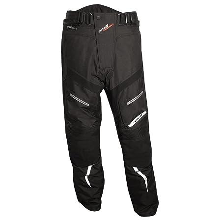 Roleff Racewear 4603 Pantalon de Moto  en Tissu/Cuir Noir