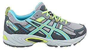 ASICS Women's Gel-Venture 5 Running Shoe, Silver Grey/Turquoise/Lime Punch, 7 D US