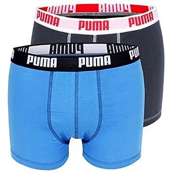 PUMA - BASIC - 521015001 056 - Boxer - Homme - Taille: L - Bleu