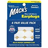 Mack's Silicone Ear Plugs - White