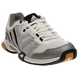 adidas Performance Women\'s Volley Team 2 W Volleyball Shoe, White/Grey/Black, 11 M US