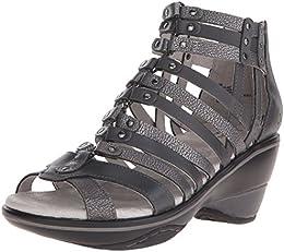 Jambu Women s Sugar Metallic Wedge Sandal B005AFF3BQ