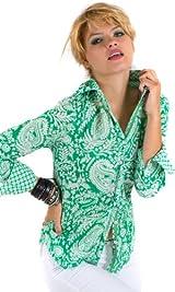 Emerald Tahiti Paisley print shirt