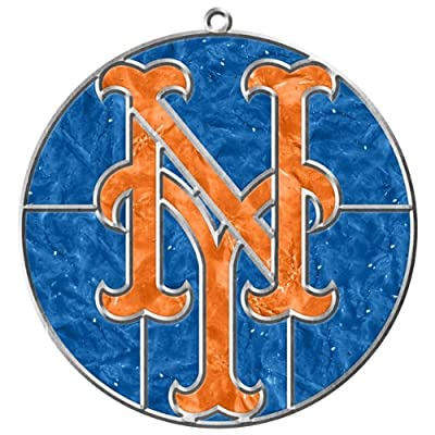 MLB New York Mets Makit and Bakit Stained Glass Ornament