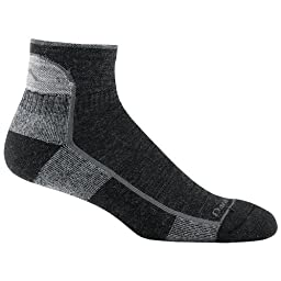 Darn Tough Vermont Men's 1/4 Merino Wool Cushion Hiking Socks, Black, X-Large