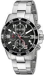 Stuhrling Original Men's 985.02 Concorso Quartz Chronograph Date Stainless Steel Watch