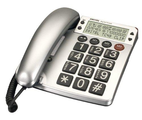 Switel TC49S Téléphone filaire avec touches XL