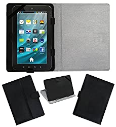 Acm Leather Flip Flap Carry Case For Mercury Mtab Neo 2 Tablet Holder Stand Cover Black