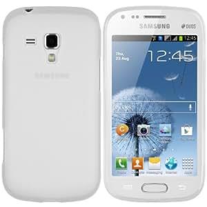 mumbi silicone TPU Coque Samsung Galaxy S Duo - Silicone Etui Housse Étui Protecteur Case Blanc transparent