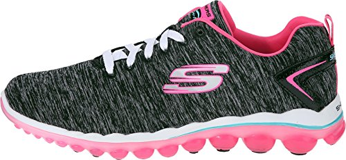 Skechers Sport Women's Skech Air Sweet Life Fashion Sneaker, Black/Hot Pink, 8.5 M US