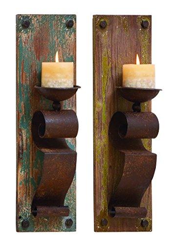 Benzara Candle Sconce Assorted Elegant and Sophisticated, Set of 2 Home Garden Lighting Lighting ...