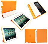 Flash Superstore New Ipad 3 & Apple Ipad 2 Bundle Pack of Compatible Orange Smart Cover & Neon Orange Smart Gel Case (All versions Wi-Fi and Wi-Fi + 3G/4G - 16GB 32GB 64GB)