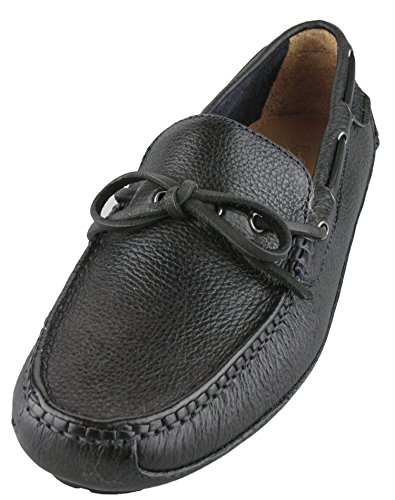 Cole Haan Men's Grant Canoe Camp Moc Shoes (8.5, Black/ Blaze Blue) (Cole Haans New Men compare prices)