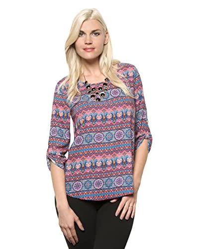 S.H.E. Women's Abstract Pattern Top